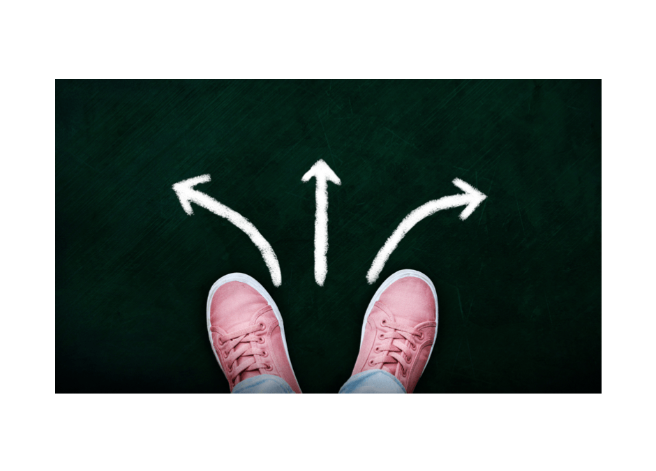 Pink shoes and arrows. Taking Steps to a Renewed Mind