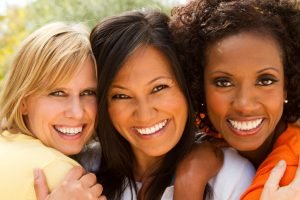 Diverse Christian Women Happy about God's Purpose for Them